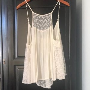 Flowy, gauze and lace tank size Medium